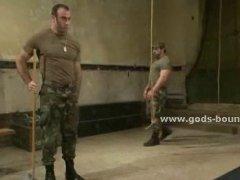 brutal military bondage