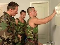 army hunk 3some