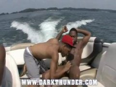 young black studs bang on a boat