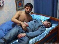 Guys messing around during nap