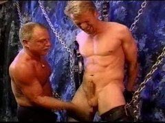 Chained Blonde Jerked