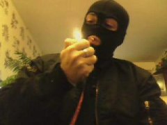 Mask Military Handjob