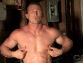 Muscle Man Danny Drake Jerking