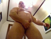 Beefy Stud Showing Off his Body and Cock