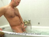 Hairy Hunk Giorgio Washes his Cock