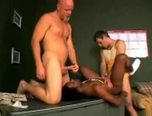 Black Guy Double Fucked By White Guys