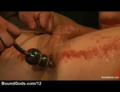 Waxed Bound Gay BDSM