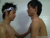 Asian Boys Shower And Suck