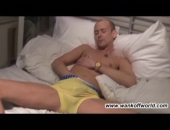 Bisexual Karl Strips and Jerks Off