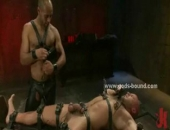 Gay Master Tortures Bound Slave With Wax And Bondage Clips In Nasty Sex Fucking His Ass And Mouth