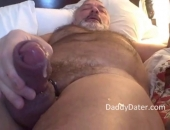 Hung Hairy Silverback Bear Top Blows His Load