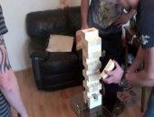 Spank Jenga - Andy, Bailey & Liam (straight mates spanking)!