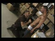 hot delivery man/hairy cub sex scene